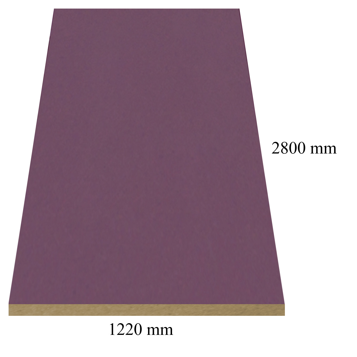 493 Light purple high gloss - PVC coated 18 mm MDF