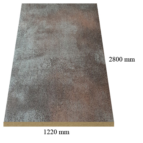 161 matte Premium Copper - PVC coated 18 mm MDF