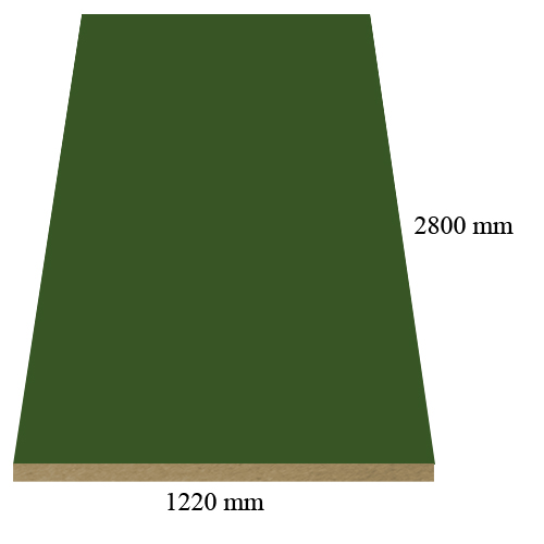 2271 Super matte Oliva - PVC coated 18 mm MDF