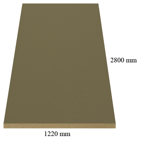 748 /305 Velvet grey coffe - super matte - PVC coated 18 mm MDF