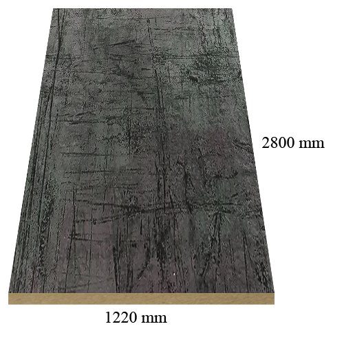 531 Volcanic stone matte - PVC coated 18 mm MDF