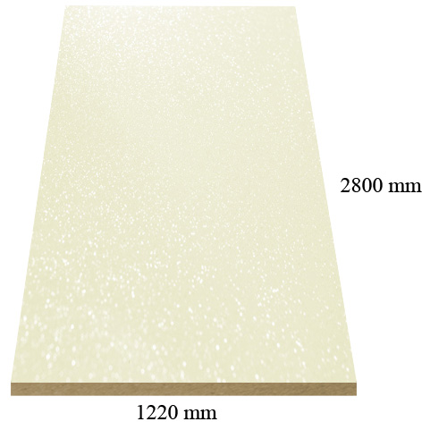 482 /6172 /6272 Cream galaxy high gloss - PVC coated 18 mm MDF