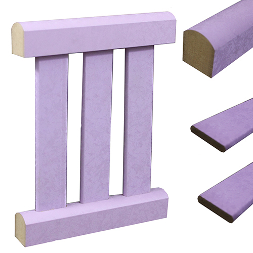 Baby cot MDF profiles - F. purple