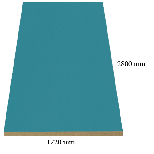 519 Turquoise high gloss - PVC coated 18 mm MDF
