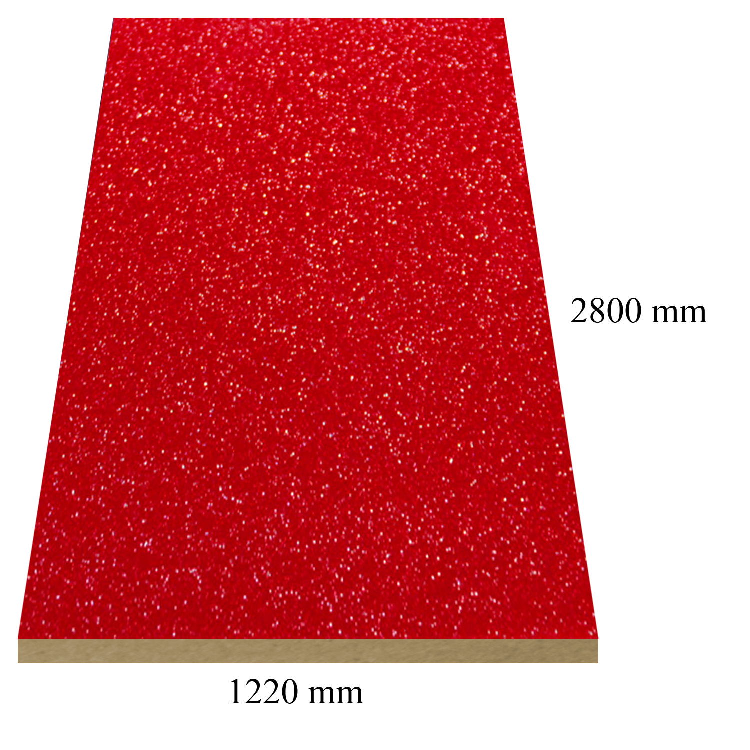 508 Red galaxy high gloss - PVC coated 18 mm MDF